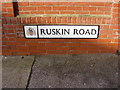 TM1744 : Ruskin Road sign by Adrian Cable