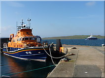 HU4741 : Lerwick: lifeboat and the Bressay ferry by Chris Downer