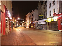 TQ7567 : Chatham, High Street (at night) by David Anstiss