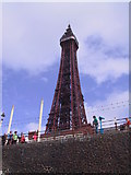 SD3036 : Blackpool Tower viewed from the beach by Eddie Reed