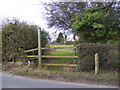 TM2372 : Footpath to the B1118 Wilby Road by Adrian Cable
