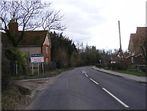 TM2374 : B1118 Queens Road, Stradbroke by Adrian Cable
