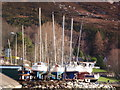 NH1394 : Yachts, dry for the Winter at Ullapool by sylvia duckworth