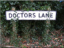 TM2373 : Doctors Lane sign by Adrian Cable
