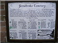 TM2374 : Sign on the Chapel at Stradbroke Cemetery by Adrian Cable
