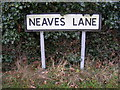 TM2374 : Neaves Lane sign by Adrian Cable