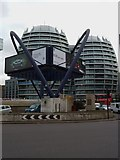 TQ3282 : Buildings and artwork, Old Street Station Roundabout EC1 by Robin Sones
