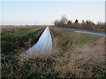 TL6695 : Ditch off College Road by Hugh Venables