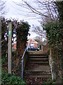 TM2147 : Footpath to Church Lane by Adrian Cable