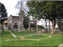 TQ3975 : Outline of the old St Margaret's church by Stephen Craven