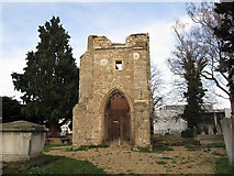 TQ3975 : St Margaret's old tower, south side by Stephen Craven