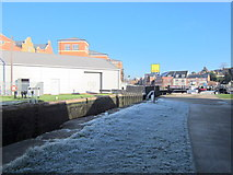 SO8453 : Worcester Diglis Top Lock, Frosty January by Roy Hughes