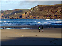 SW3526 : On the beach at Sennen Cove by John Lucas
