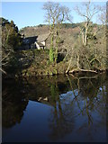 SH7956 : Reflection on a winters morning Afon Conwy by Richard Hoare