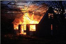 NJ6463 : House fire by Colin Kinnear