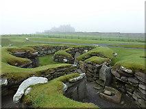 HU3909 : Jarlshof: Iron Age round houses by Chris Downer
