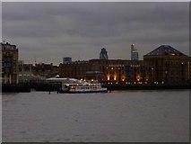 TQ3680 : River Thames and Columbia Wharf SE16 by Robin Sones