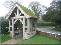 SU5846 : Dummer - All Saints Church - Lych gate by Given Up