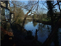 SH7956 : Afon Conwy from the riverbank by Richard Hoare