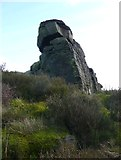 SE0022 : The Bull Fall Stone, Cragg Vale by Humphrey Bolton