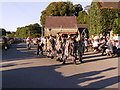 SN0506 : Dancing in front of Cresselly Arms by chris whitehouse