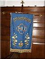 SY7190 : Banner, St Michael's Church by Maigheach-gheal
