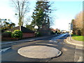 SO8204 : Mini-roundabout at the SE boundary of Stonehouse by Jaggery