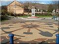 ST1888 : Trethomas War Memorial and mosaic by Jaggery