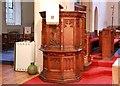 TQ2569 : St John the Divine, High Path, Merton - Pulpit by John Salmon