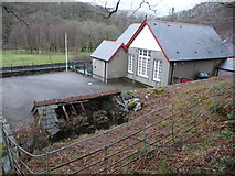 SH7357 : Old village school, Capel Curig by Jeremy Bolwell