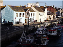 SY6778 : Custom House Quay from Town Bridge, Weymouth by Colin Smith