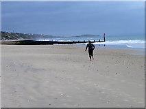 SZ1191 : Running on the beach, Boscombe by Maigheach-gheal
