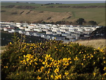 SY8080 : Caravan Park by Newlands Farm by Colin Smith