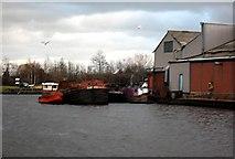 SE5023 : Harkers Boatyard Knottingley by derek dye