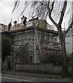 SX9065 : Roofing work, Cricketfield Road by Derek Harper