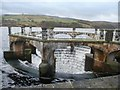 SE1107 : Overflow overflowing, Digley Reservoir by Christine Johnstone