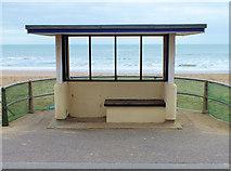 SZ1191 : Beach shelter by Jonathan Kington