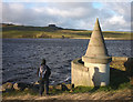NY9422 : Turret at the top of the overflow, Grassholme Reservoir by Karl and Ali