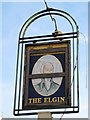 TQ2389 : Sign for The (former) Elgin, Bell Lane, NW4 (2) by Mike Quinn