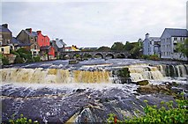 R1388 : The bridge and the Cascades at Ennistymon by P L Chadwick
