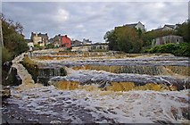 R1388 : The Cascades on the River Inagh, Ennistymon by P L Chadwick