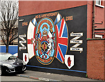 "J3574 : ""Gertrude Star"" mural, Belfast by Albert Bridge"
