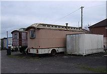 SU1585 : Old caravans in Edwards Amusement Depot, Ferndale Road, Swindon by Vieve Forward