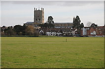 SO8832 : Tewkesbury Abbey by Philip Halling