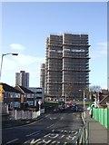 SJ9400 : Tower block refurbishment by John M
