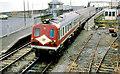 O2912 : NIR railcars, Greystones by Albert Bridge