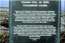 M2300 : Poulnabrone Dolmen Informationboard - 1982 by Helmut Zozmann