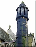 NZ0772 : Ornamental chimney, St Mary's Church, Stamfordham by Andrew Curtis