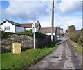 ST0574 : Minor road north to farms and Zoar church near Bonvilston by Jaggery