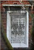 TQ2572 : St Luke, Ryfold Road, Wimbledon Park - Memorial stone by John Salmon